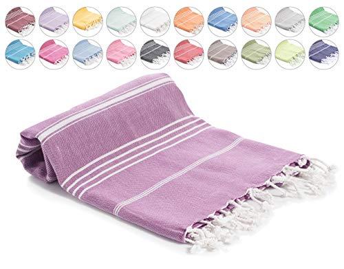 Decorous Hamamhanddoek XXL strandhanddoek, saunahanddoek, sneldrogend, absorberend, licht handdoek, badhanddoek, sporthanddoek, reishanddoek voor dames, heren en kinderen. 100% katoen Oeko-Tex.