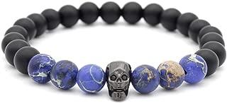 Black Zircon Beaded Bracelet, Personality Matte Cut Shantou Jewelry Unisex Inspiration Bangle Bracelet