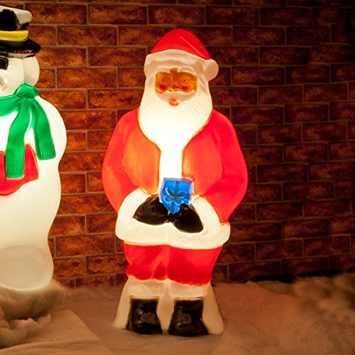 strombetriebene, beleuchtete Weihnachtsfiguren, verschiedene Motive und Größen, für Innen und Außen, von Festive Lights (Weihnachtsmann 87cm)