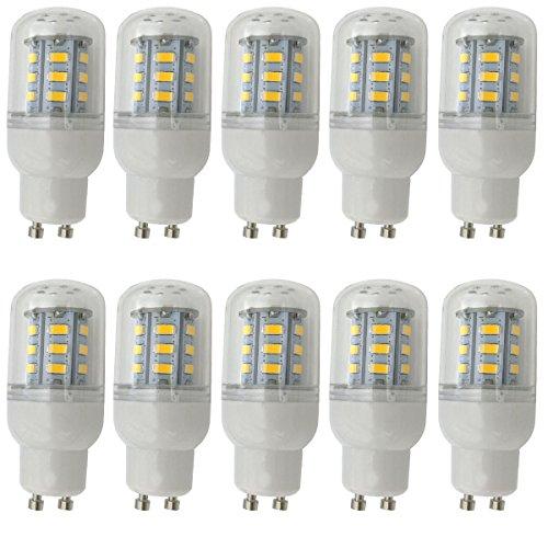 Aoxdi 10x GU10 LED Glühbirne 4W, Warmweiß, Nicht Dimmbar 24 SMD 5730 LED GU10 Lampe Leuchtmittel, AC220-240V