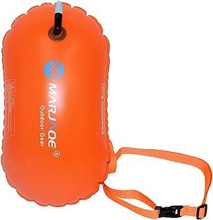 Fdrirect Bóia de natação flutuante, Bóia de segurança com bolha de natação com cinto ajustável para natação em águas abert...