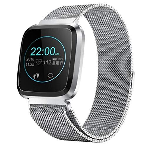 VBF Smart Watch, Fitness Tracker, L18 Ejercicio Monitor De Frecuencia Cardíaca, Podómetro, Pulsera Inteligente Aeróbica, Reloj De Ejercicio A Prueba De Agua para Android iOS,B