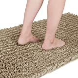 Yimobra Original Luxury Shaggy Bath Mat, 44.1 X 24 Inches, Super Absorbent Water, Non-Slip, Machine-Washable, Soft and Cozy, Thick Modern for Bathroom Bedroom, Camel