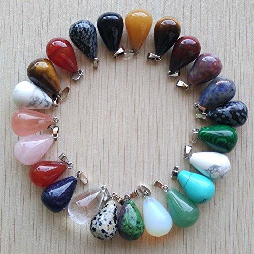 JIANGLAI 50 Unids/LoteSurtido DeColgantes DeAgua De Piedra Natural Mixta Que SeAdaptan A La Fabricación De Joyas De Collares