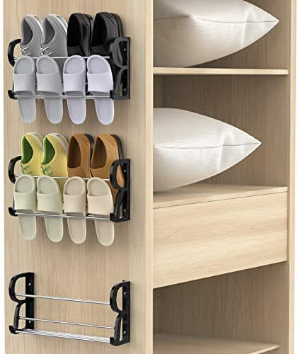 Yocice Wall Mounted Shoes Rack 3Pack Can Store 6Pairs Sneakers and 6Pairs Slide Sandal with product image