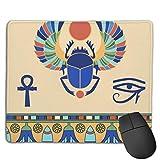 Ägyptische Skarabäus-Druck-Gaming-Mausmatte Stitched Edge Office Thicker Mouse Pad