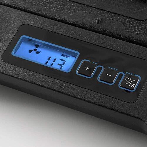 NGS GCX-400 - Base di Raffreddamento con 5 Ventole e Schermo LCD. Colore Nero
