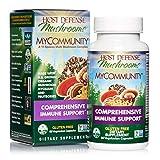 Host Defense, MyCommunity Capsules, Advanced Immune Support, Mushroom Supplement with Lion's Mane, Reishi, Vegan, Organic, Gluten Free, 60 Capsules (30 Servings)