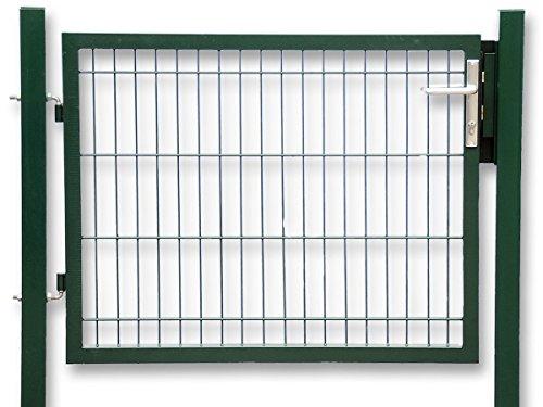 Zaun-Nagel Gartentür zum Doppelstabmattenzaun grün - Höhe 80 cm/Breite 125 cm