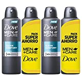Dove Men Pack Ahorro Desodorante Clean Comfort - 2 packs de 2 x 200 ml