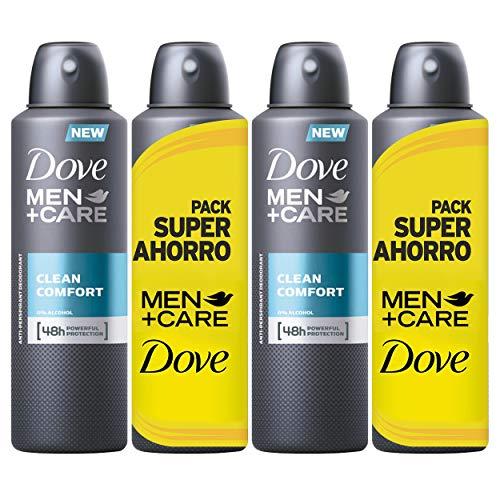 Dove Men Pack Ahorro Desodorante Clean Comfort - 2 Paquetes de 2 x 200