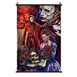 Trisom Home Decor Canvas Poster Hangs Picture The Phantom of The Opera Arts Wall Hanging Painting Picture Art for Bedroom Living Room 16''×24''