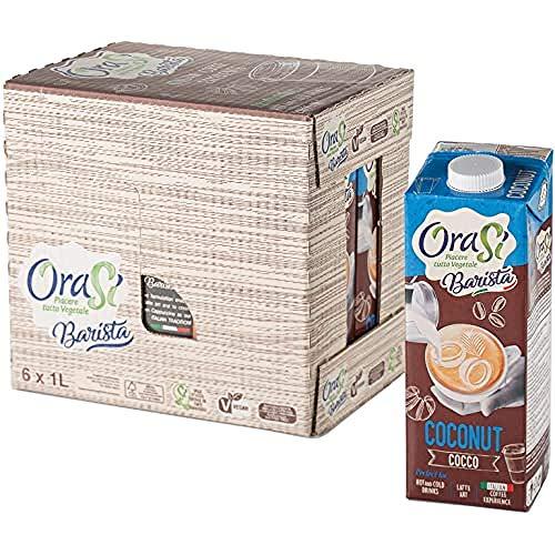 Orasì Barista Bevanda di Cocco per Uso Professionale, 1 litro, 6 unità
