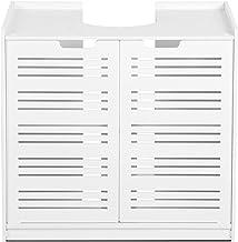 Cikonielf Onderkast voor wastafel, waterdicht, 2 deuren en planken, badkamerkast, 60 x 30 x 60 cm