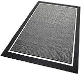 Balta Rugs In- und Outdoor-Teppich Framed Area Black L 140x200cm f. Innen und Außen