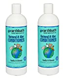 Earthbath All Natural Oatmeal and Aloe Dog Cat Moisturising Conditioner 16 ounce (2 Pack)