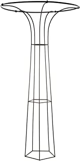 Achla Designs PYL-10 Mushroom, 94-in Garden Pylon Trellis Climbing Plants Support, Wrought Iron, H, Roman Bronze