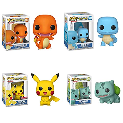Lindo Anime Pokemon Pop Figura Squirtle Charmander Bulbasaur Pikachu Vinilo Figuras de acción Muñecas Juguete Pokemones Figura de Primera generación Juguetes Regalos