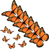 AQUEENLY Monarch Butterfly Decorations, 4.72'' Orange Premium Artificial Monarch Butterfly...
