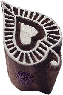 ختم كتلة طباعة الزهور من ورق الشجر الملكي - صناعة يدوية الحنة النسيج ورقة الطين الفخارية كتلة الطباعة TGtag004