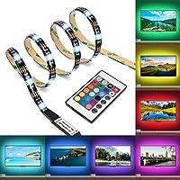 """🟠【Mehrfarbige LED-Hintergrundbeleuchtung】- 16 Farbauswahl lassen Sie ein romantisches Heimkino frei schaffen. Kann 40"""" - 60"""" Fernseher leuchten, bringt ein angenehmes Gefühl in den Raum. Gilt sich nicht nur als Hintergrundbeleuchtung für TV, sondern ..."""