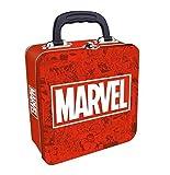 Marvel Maletín Metálico Porta Alimentos (Rojo/Blanco) Logo, Metal, Unico