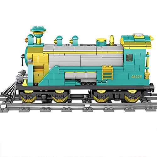 SICI Flotora de vapor City con riel, técnica de tren tren tren con motor y kit de iluminación, 892 piezas, compatible con la técnica Lego