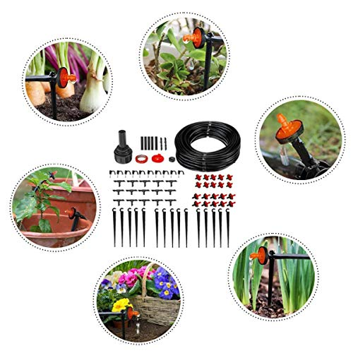 ARTFFEL Schneller 71pcs 23m Gartenbewässerung Spray-Selbst Bewässerung Kits Automatische Micro Drip-Bewässerungssystem mit einstellbarem Dripper Gartenschlauch Wachsend (Color : Multi-Colored)