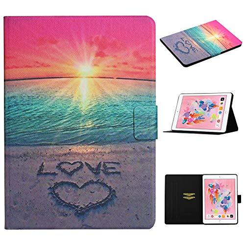Pefcase iPad Mini 7.9 inch Case, iPad Mini 4 Case, iPad Mini 5 Thin PU Leather Folio Stand Magnetic Cover Shell with Auto Sleep/Wake for iPad Mini 1/Mini 2/Mini 3/Mini 4/Mini 5 - Sunrise