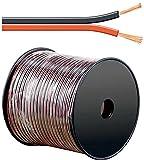 erenLINE 100 m Lautsprecher-Kabel 2X 0,75 mm² rot/schwarz; Boxenkabel;...