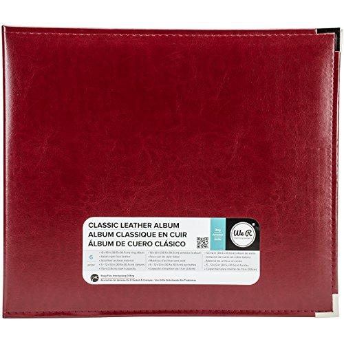 We R Memory Keepers 660921Álbum clássico de couro com anel em D 30,48 cm x 30,48 cm, vinho