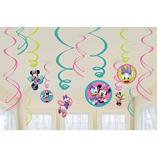 Amscan Swirl Decorations, Disney Minnie Mouse Collection , Party Accessory