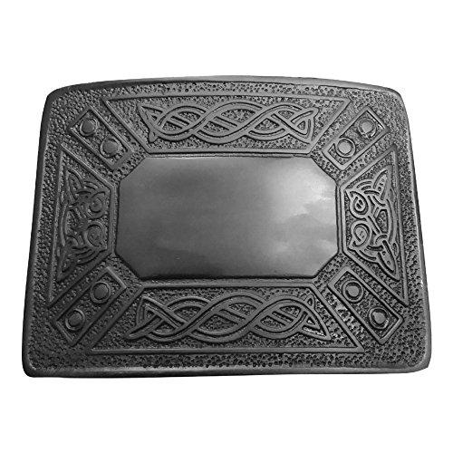 Scottish Kilt Belt Buckle Celtic knot Design Black finish