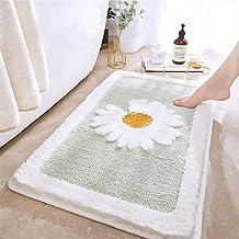 Daisy Non Slip Bath Mat Thickened Bath Rug for Bathroom Absorbent Ultra Soft Bathroom Mat Rug Fluffy Microfiber Bedside Ru...