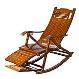 MAMINGBO Mecedora Vintage Tumbonas Plegables Tumbonas, Silla de jardín reclinable Muebles de jardín Sillón reclinable for Patio Camping al Aire Libre Playa