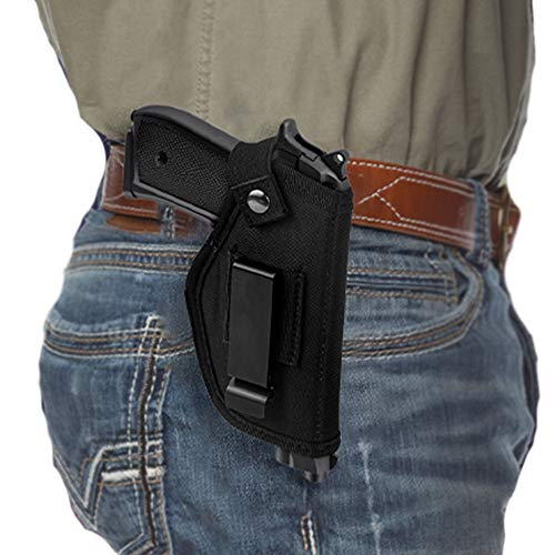 LUCYLANKER Fundas de Armas de Caza, Funda Universal para Pistolas, Cinturon tactico, Oculta, Usable, para Pistola se Adapta a Las Pistolas Grandes Subcompactas, Negro