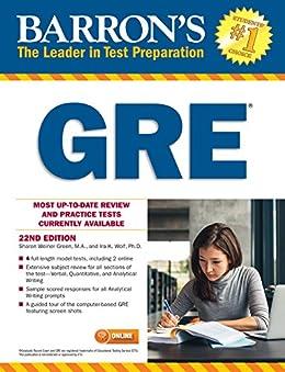 [Sharon Weiner Green, Ira K. Wolf]のGRE (Barron's Test Prep) (English Edition)