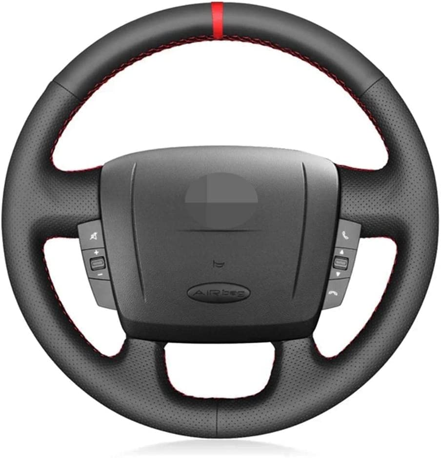 HSHKONG DIY Non-Slip Black car Max 89% OFF Cover for Peugeot High quality Steering Wheel