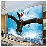 Wie Drachenzähmen Wandbild Große Wandkunst Fototapete Designer Cartoon Movie Benutzerdefinierte Wandbild Tapete Kinderzimmer 200 * 140 Cm