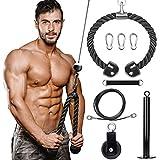 Chomang Polea de polea para fitness, con cable para entrenamiento de tríceps, polea,...