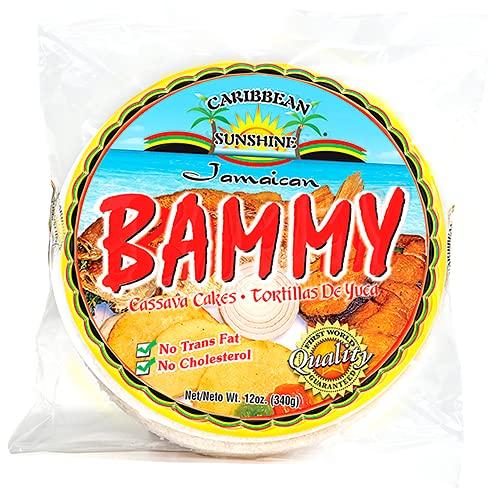 Caribbean Sunshine Jamaican Bammy Cassava Cake 14 oz (3 bags)