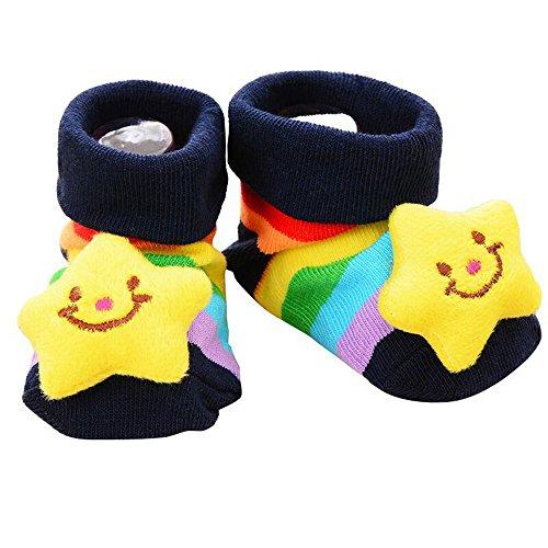Little Sporter Indoor Socken Slipper Schuh Rutschfeste Unisex Baby Niedlich 3D Cartoon Kurz Socken...