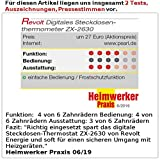 revolt Steckdosenthermostat: Digitales Steckdosen-Thermostat für Heiz- & Klimageräte, Sensorkabel (Thermometer Steckdose) - 5