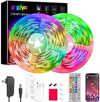 LPENG 65.6 Feet Led Lights Strip Color Changing Led Lights Music Sync