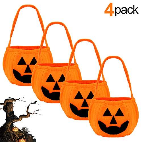 LISOPO Halloween Handtasche Halloween Kürbis Tasche Betteltasche Halloween Stereo Kürbis Tasche Kinder