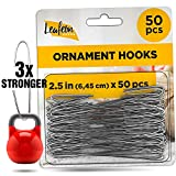 Leafeon 50 Pack Christmas Ornament Hooks – Great Ornament Hangers for Christmas Tree Dec...