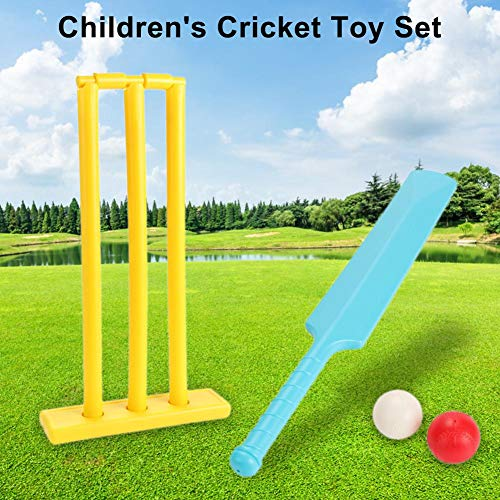 Letway Cricket Set Ball Board 1 Schlagbrett 1 Ball 2 - Gartenspiel, Ballspiel, Kid Cricket Set Eltern-Kind-Sport Interaktion Hand-Auge-Koordination Anbau Sportspiel-Set Für Backyard Beach wonderful