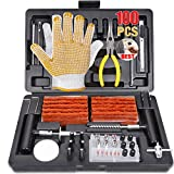 Tire Repair Kit, 100Pcs POPOMAN Heavy Duty Tire Plug Kit for Car, Truck, RV, Jeep, ATV, Tractor, Trailer, Motorcycle-Universal Tire Repair Tools to Fix Punctures and Plug Flats -100% QUALITY PROMISE