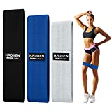 Hurdilen Resistance Bands Loop Exercise Bands ,Workout Bands Hip Bands Wide Resistance Bands Hip Resistance Band for Legs and Butt,Activate Glutes and Thigh (Grey,Blue,Black)