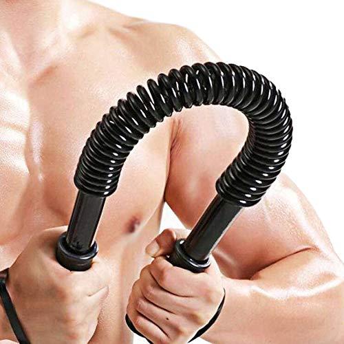 ORRIMO 20 KG Practical Power Twister Bar-Arm,Shoulder Builder Curl SpringBar Exercise, Chest and Bicep Blaster (Black, 20KG)
